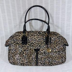 Travelon Leopard Print Tote Bag Travel Commute Gym